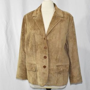Eddie Bauer Seattle Suede Blazer Jacket XXL 2XL